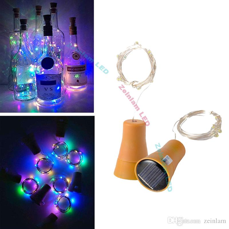 DHL 1M 10LED copper strip Lamp Cork Shaped Bottle Stopper Light Glass Wine LED Copper Wire String Lights For Xmas Party Wedding