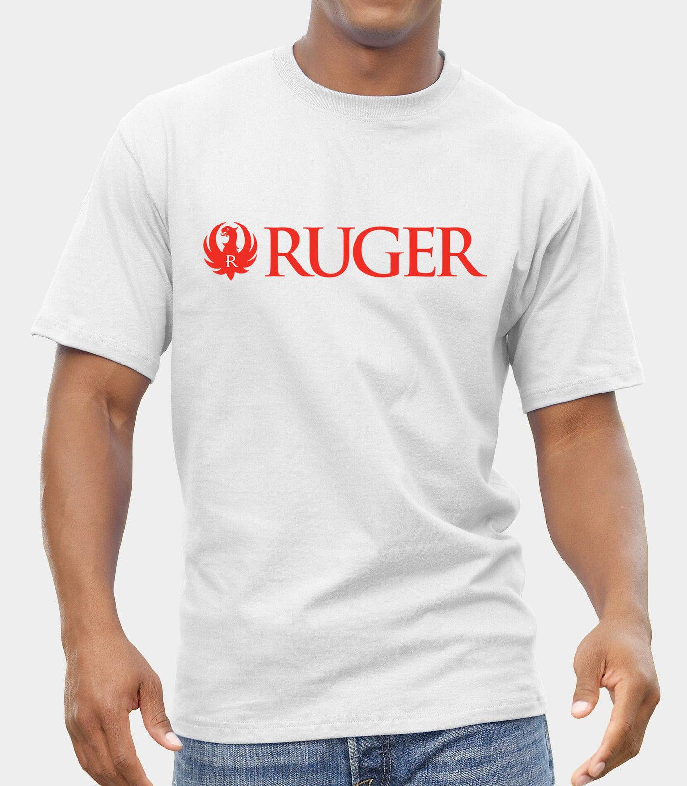 140cdd18c16 Ruger GUNS LOGO T SHIRT FRUIT OF THE LOOM PRINT BY EPSON Men S Clothing T  Shirts Tees Men Hot Cheap Short Sleeve Male Shirt With T Shirt Buy Funny T  Shirts ...