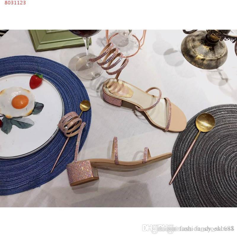 Symphony Of Summer Color >> Summer New Style Sexy Winding Thick Heel Symphony Sandals Tied With