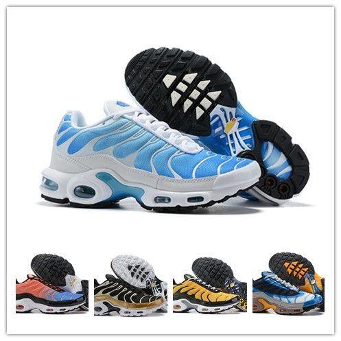 Großhandel 2019 Neue Männer Nike Air Max Airmax Plus TN Running Plus Tn Ultra Se Schwarz Weiß Blau Rosa Zapatillas Hombre Outdoor Schuhe Im Freien Tn