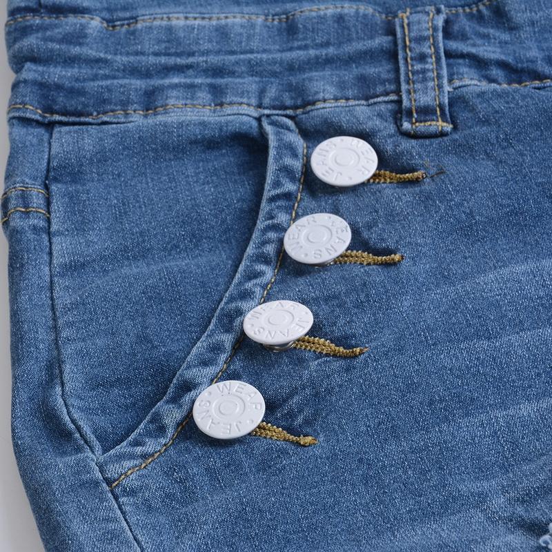 WENYUJH 2019 Jeans Femmes Taille Haute Élastique Maigre Denim Long Crayon Pantalon Plus La Taille Boutons Jeans Camisa Feminina Pantalon