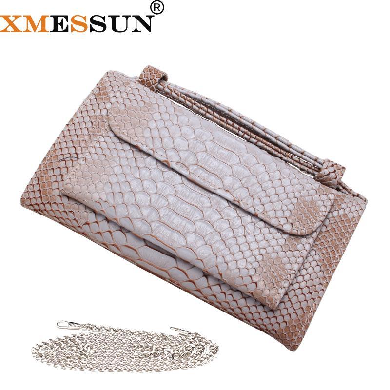 Fashion Cowhide Leather Day Clutch One Shoulder Cross-body Bag Khaki ... 4674dfea9ed7b