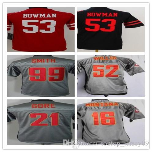 2018 Can Custom Men San Francisco 49ers Jerseys #53 NaVorro Bowman  free shipping