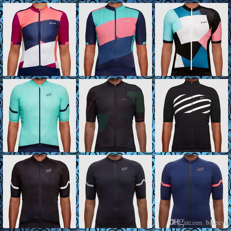 colores delicados 2019 auténtico nuevo estilo 2019 New MAAP team Cycling Short Sleeves jersey Sportswear Polyester Summer  Breathable Bike Clothing Ropa Ciclismo U51340