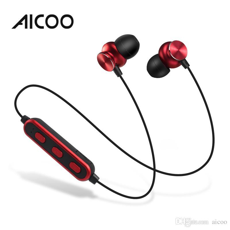1992fece482 AICOO S1A Wireless Bluetooth 4.2 Earphones In Ear Neckband Universal ...