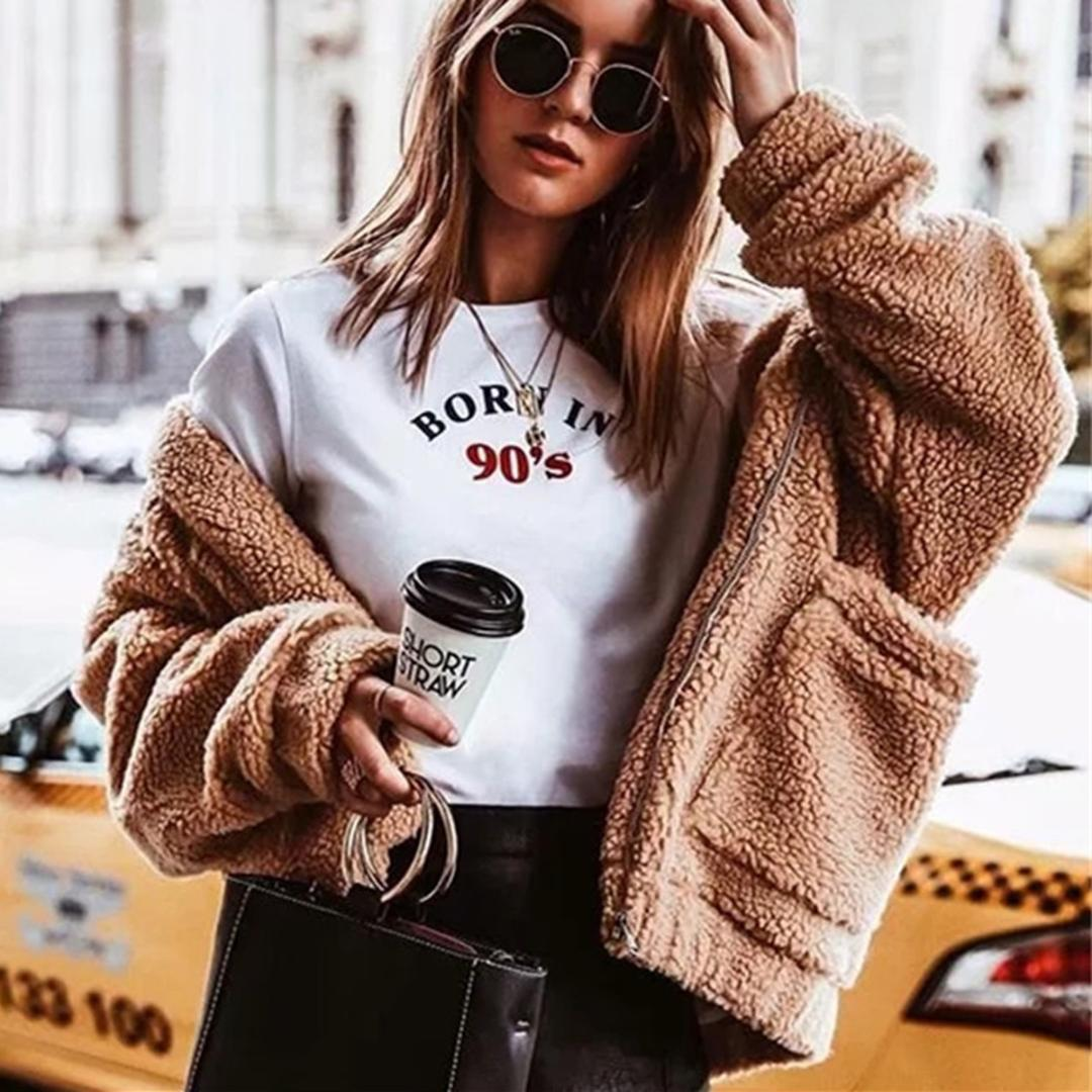 Teddy Jas We.2019 Jastie 2018 Winter Lamb Coat Top Faux Fur Teddy Women Jacket