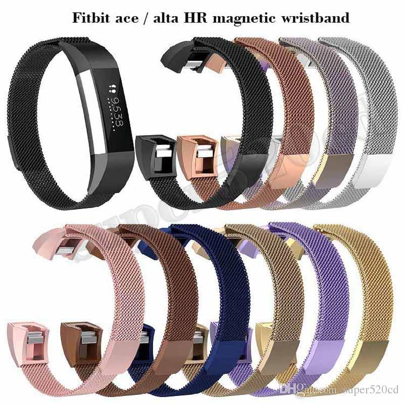 14c6cd0e13e Milanese Loop Watch Strap For Fitbit Alta HR Band Replacement Bracelet  Magnetic Stainless Steel Watchband For Fitbit Ace Wristband Watches With  Leather ...