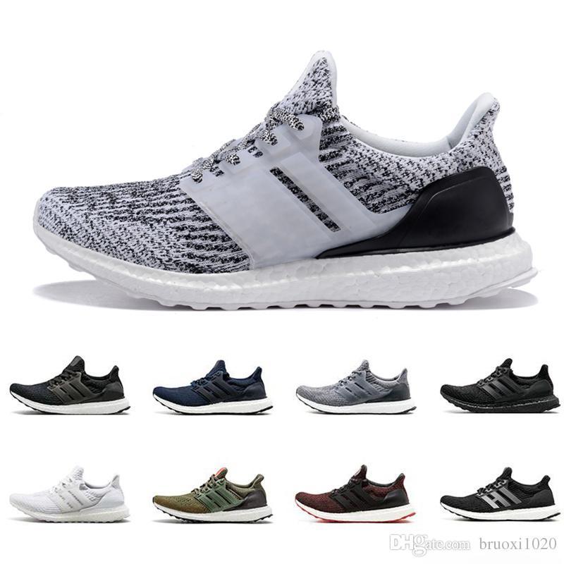 los angeles 774b9 51e09 Acquista 2019 Nuovo Ultra Boost Running Shoes 3.0 4.0 Uomo Donna Stripe  Balck Bianco Oreo Designer Sneakers Ultraboost Scarpe Sportive Scarpe Da  Ginnastica ...