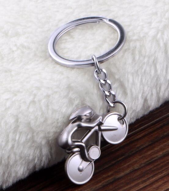 Metal Bicycle Figure Keychain Car Souvenirs Keyring Bike Cycling Keyfob Bag Handbag Key Chain Ring Holder