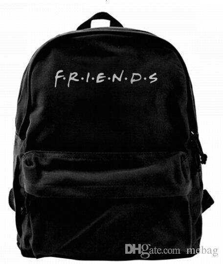 6b56f22d7ba Friends Logo Fashion Canvas Designer Backpack For Men & Women Teens College  Travel Daypack Leisure Bag Running Backpack Osprey Backpack From Mebag, ...