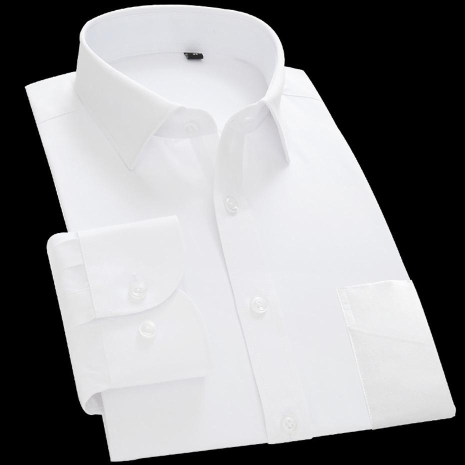 82da92da2c7 China Size Men's 40% Cotton Dress Formal Office Shirt Designer Camisas  Casual Fashion White Plus Size Long Sleeve GXW1021