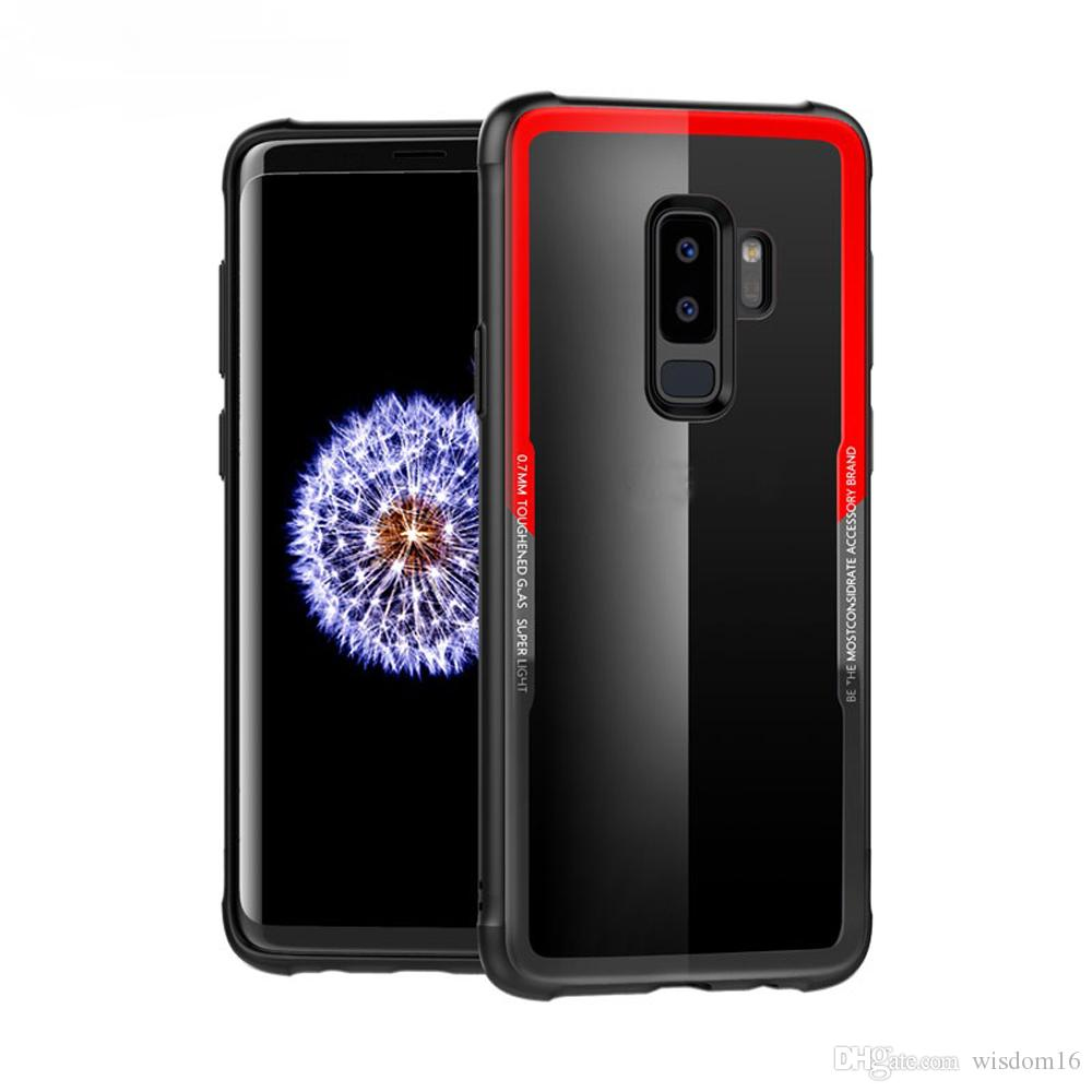sale retailer d93a5 2e465 Fashion Glass Case For SAMSUNG Galaxy S8 S9 Plus 0.7mm Tempered Glass Phone  Case Protective Mobile Phone Cover Cases for SAMSUNG S9