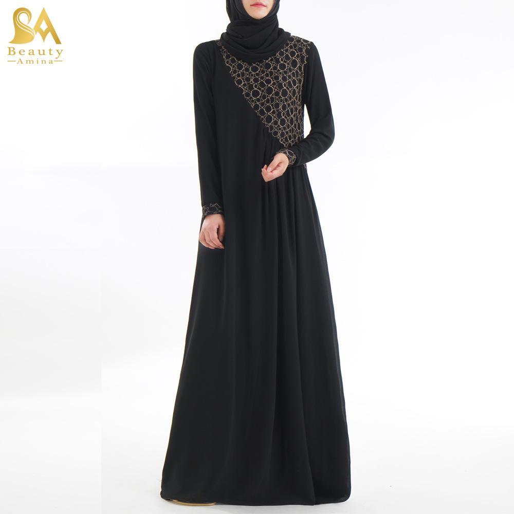 Vêtements Mousseline Turc Soie Baju Abaya Jilbab Kaftan De Kimono Femmes En Musulman Robe Islamique Printemps Djellaba 2019 rxBoCed