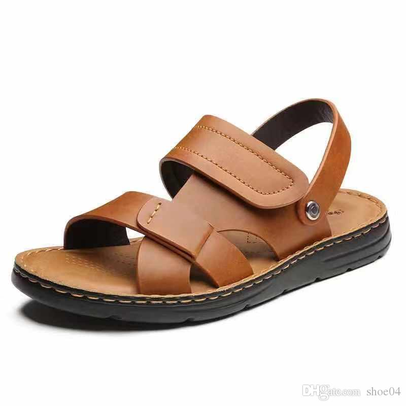 c3acc965235 For Man And Woman Sandals Slippers Flat Slippers Best Quality Designer Shoes  Real Leather Sandals Rubber Sole Eu 35 45 With Exquisite Box 07 Wedge  Sneakers ...