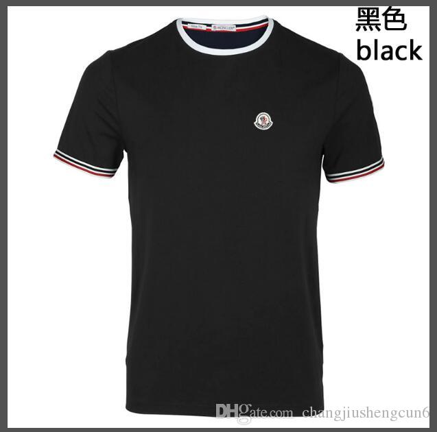 ee5957377fcc Pure white T-shirt men's cotton short-sleeved summer 2019 new solid color  Slim half-sleeved T-shirt student clothes 266#