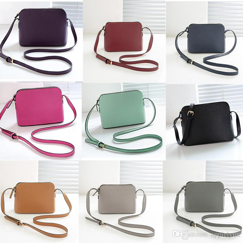 1c828a1b0 brand designer Female Shoulder Bag Shell Bags Crossbody purse Fashion Small Messenger  Bag Handbags PU Leather 9 color