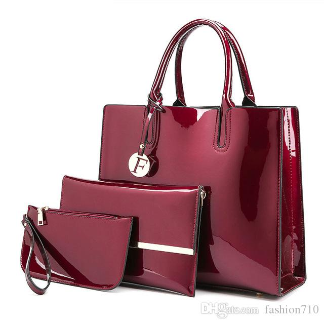 7ea4a74b127 High Quality Patent Leather Women Handbags Luxury S Tote Bag+Ladies Shoulder  Messenger Crossbody Bag+Clutch Feminina Totes Online with  39.55 Piece on  ...