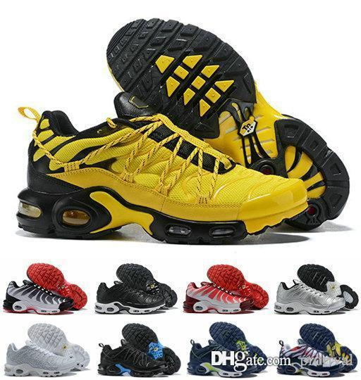 new products 70a03 ce0c2 New Designer Mens Wmns Plus TN SE Champagnepapi Yellow Red White Tns  Running Shoes,2019 Men Sport Sneakers Zapatillas Chaussures