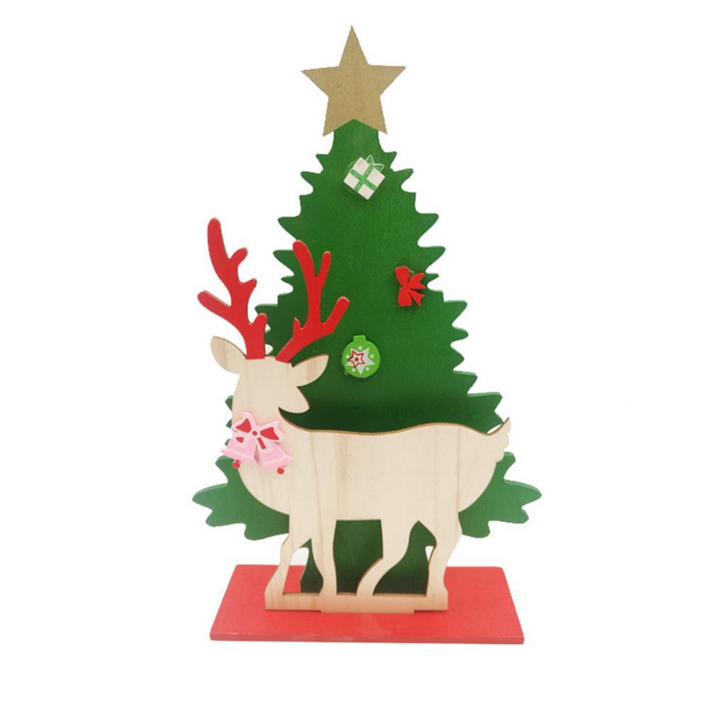 Weihnachten Geschenke 2019.2019 Heißer Diy Schreibtisch Dekoration Weihnachtsgeschenke Holz Geschenke Montiert Einzigen Weihnachten Hochwertige Dekoration Ornamente