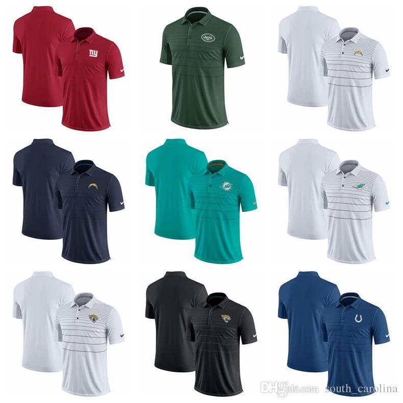 1f9f063c59 Compre 2018 New York Giants Nova Iorque Jets Camisa Polo Pólo Los Angeles  Chargers Miami Dolphins Jaguares Indianapolis Colts Early Season Camisa Polo  De ...