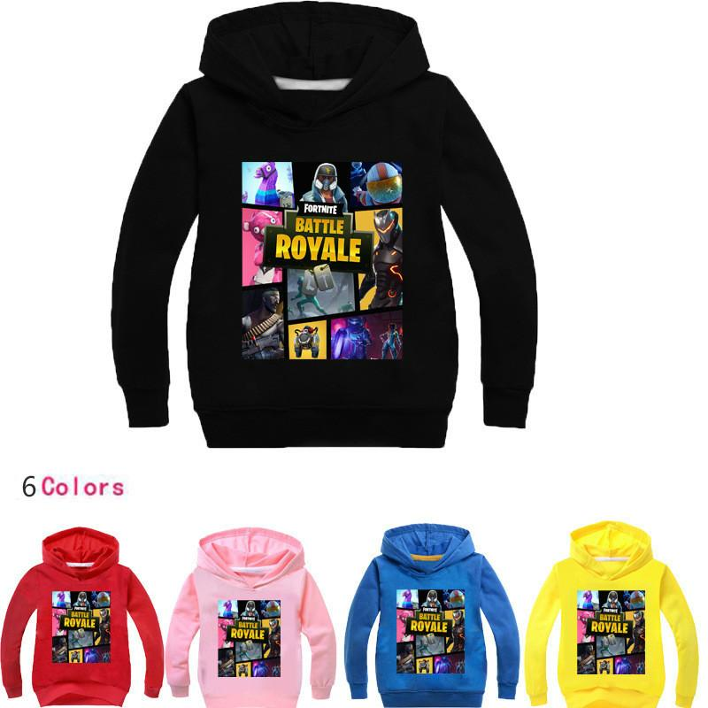 c7c4efe7e Fortnite Hoodies Children's Clothing Boys Girls Long Sleeve T Shirt ...