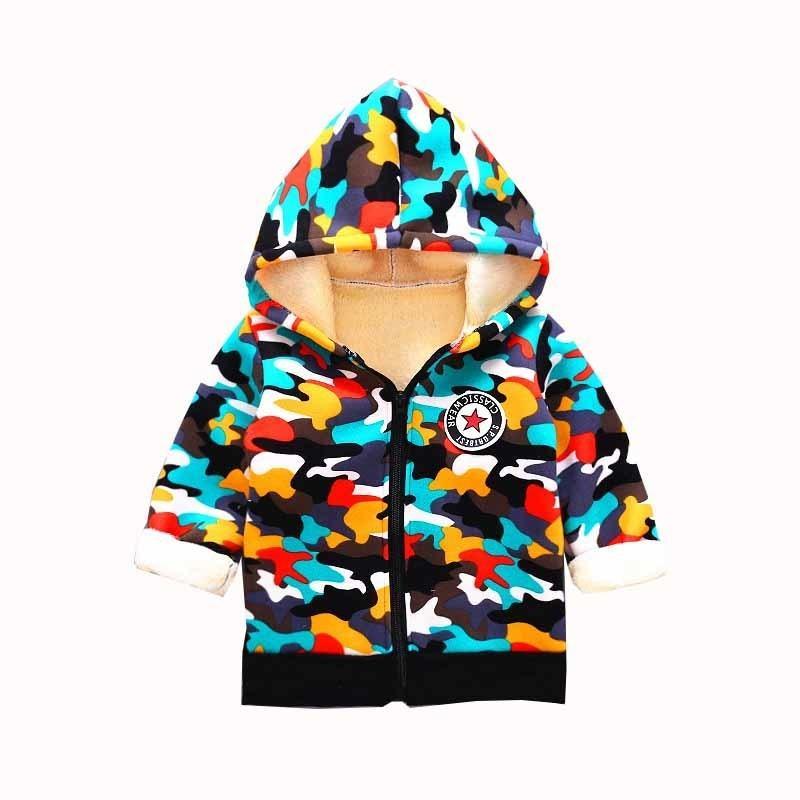 b55231256 Compre Buena Calidad Baby Boy Chaqueta De Invierno Moda Para Niños  Camouglage Hoodies Prendas De Abrigo 2019 Invierno New Boy Gruesas Abrigos  De Algodón ...