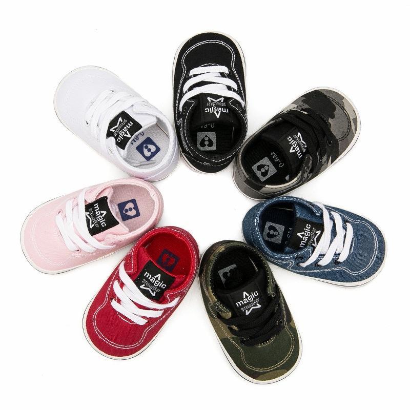 5e6f2a13d Compre Bebé Niños Niñas Zapatos De Lona Zapatillas De Deporte Primeros  Caminantes Recién Nacido Bebé Niño Prewalker Alta Calidad Para 0 12 Meses A   37.38 ...