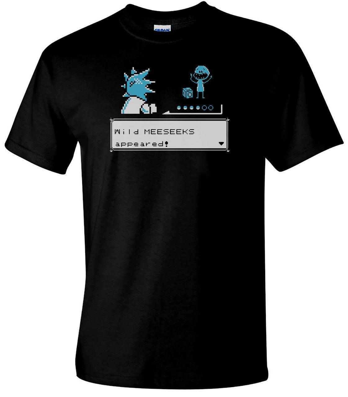 Wildes Mr Meeseeks Gaming T-Shirt Herren-Komödie T-Shirt Rick Morty inspiriert Top