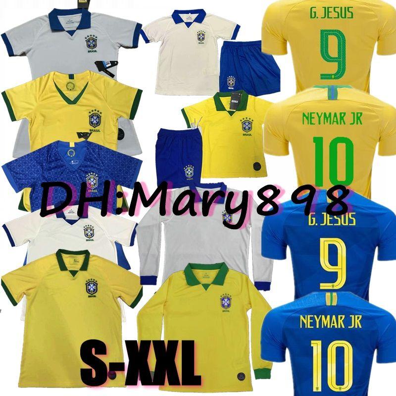 42877265d14 2019 Top Thai Quality New 19 20 Brazil Home Soccer Jersey 2019 DAVID ...