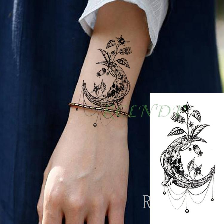 Wasserdicht Temporäre Tätowierung Aufkleber lotusblume Gefälschte Tatto Flash Tatoo Tatouage Handgelenk Fuß Hand Für Mädchen Frauen weibliche Männer