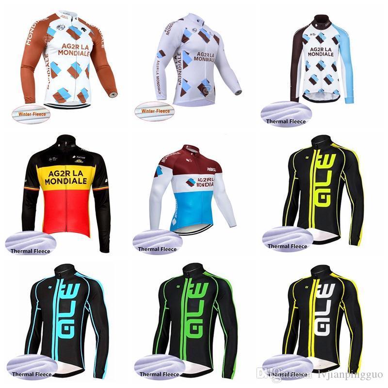 5917492e8 AG2R ALE Team Cycling Winter Thermal Fleece Jersey 2019 Hombres El Nuevo Jersey  De Bicicleta Transpirable De Secado Rápido Práctico Gran Valor 2008L Por ...