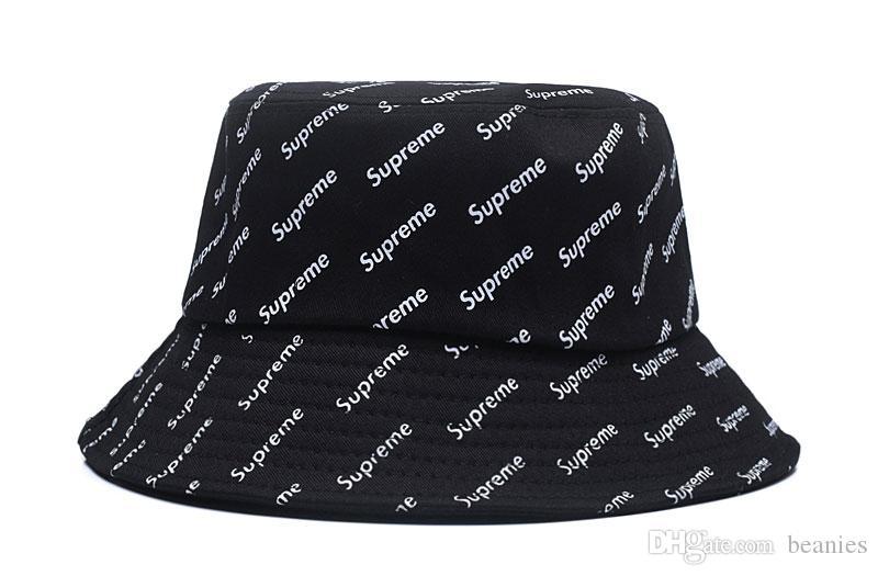 ab6b435ebb7 Brand Designer Cotton Letter Bucket Hat For Mens Womens Foldable ...