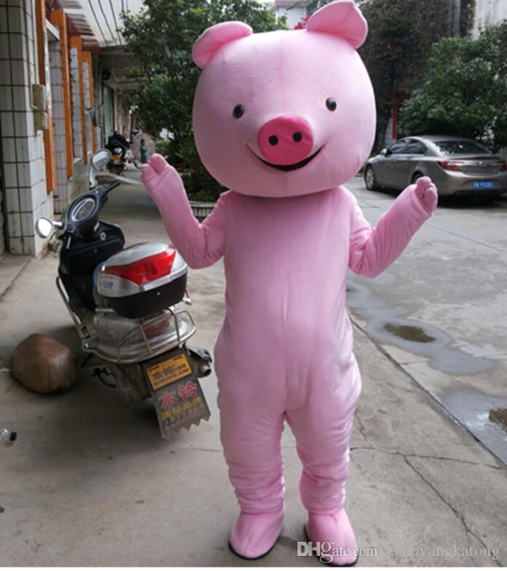 Pig Mascot Cartoon Doll Costume Zodiac Cute Pink Pig Christmas Performance  Props Free Delivery Halloween Costumes Adult Custom Halloween Costumes From  ... 03962f32e917