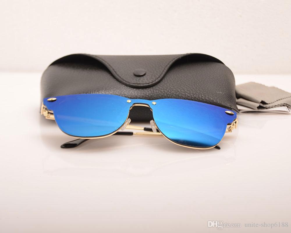 Top quality mens Sunglasses Womens Fashion Vassl Brand Designer Gold Metal Frame Red Colorful Sun glasses Eyewear with black cases box