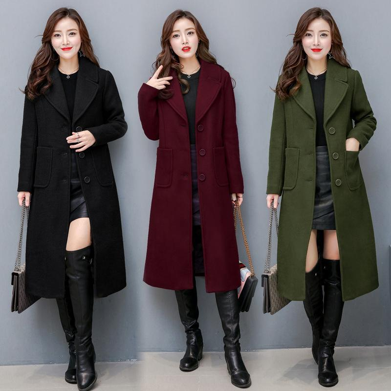 7be94d528c 2019 QMGOOD Female Fashion Women Woolen Coats High End Elegant Long Slim Winter  Jacket Warm Casual Coats Plus Size Outerwear M 4XL From Red2015, ...