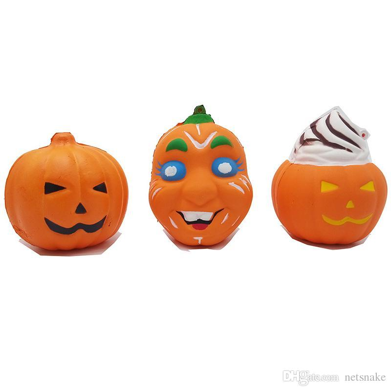 Jumbo Squishy Starry Pumpkin Ghost face Slow Rebound Decompression Toys Squishies Hand Squeezed Toy Children Halloween Gifts kids toys