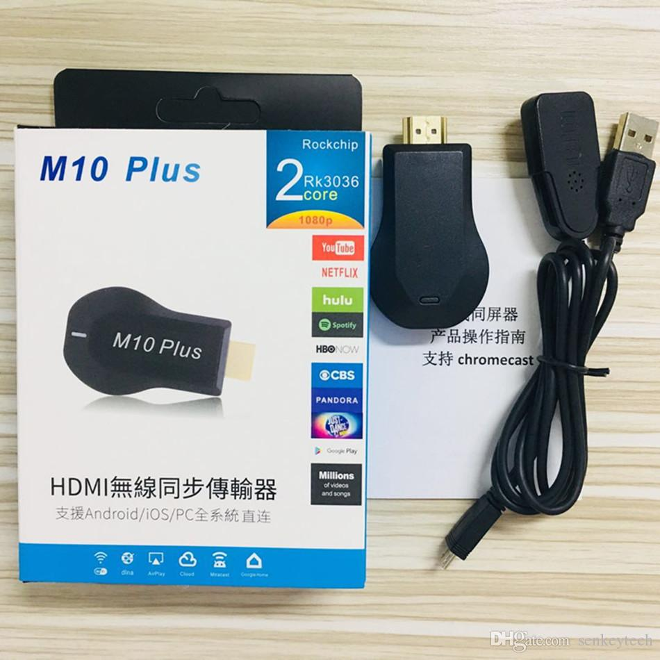 Anycast M10 Plus TV Stick HDMI 1080P Display Receiver For Chromecast Youtube Netflix Hulu TV DLAN Miracast For Phone TV