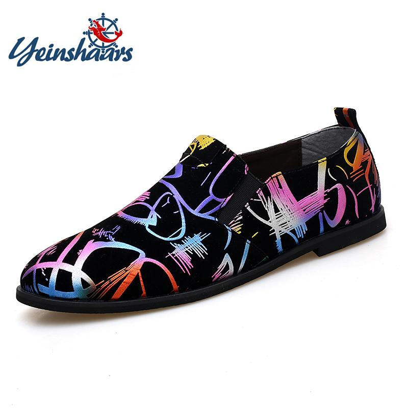 YEINSHAARS Big Size 38-47 Men Luxury Prom Party Wedding Shoes Slip ... c90945a8ab2e
