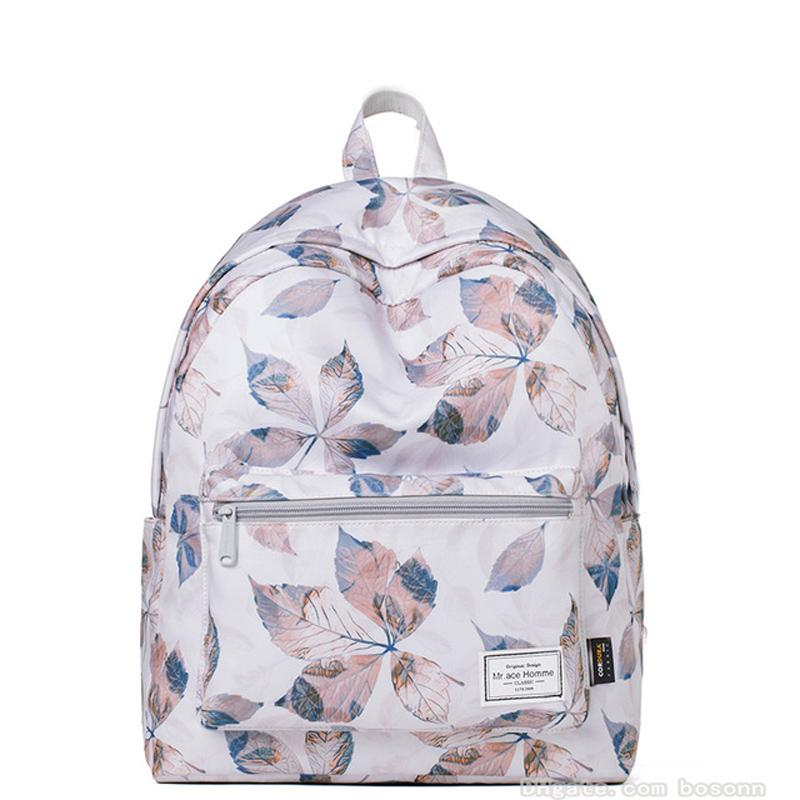 School Backpack for girls,Fashion Floral College Bags Student Laptop Bag 14Inch