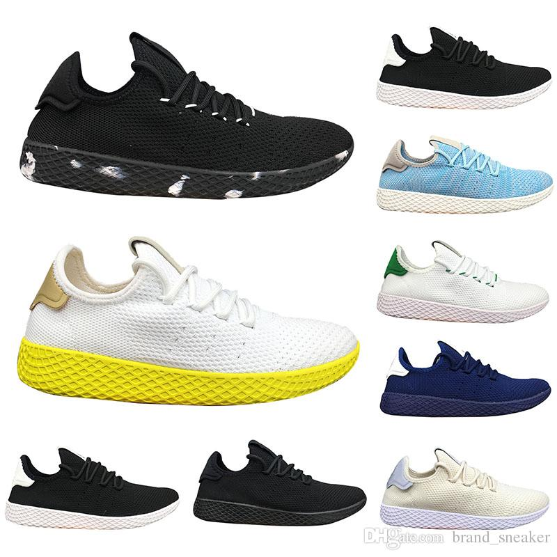best loved 99fb1 6fa1d Pharrell Williams Pw Tennis Hu Men Sneakers black white Red Fashion man  Athletic Designer Shoes Casual Walking Women Trainers Sport Shoes