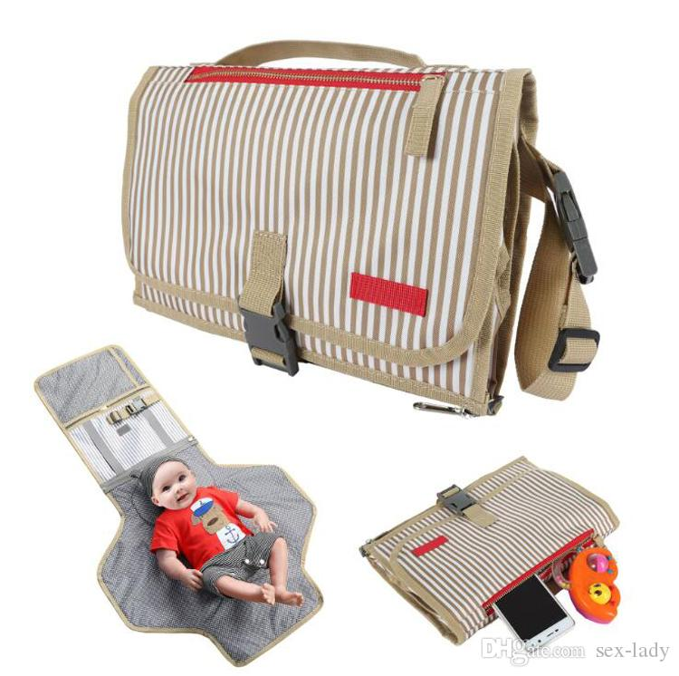 Baby changing mat Waterproof Mummy bag Baby stroller portable diaper changing pad travel table Changing Station Diaper Clutch 5 colors