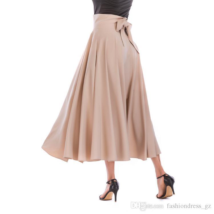 517d2bf63d13 Acquista Gonna Lunga Donna Vita Alta Tinta Unita Tinta Unita Slim Fit  Elegante S M L XL XXL 3XL 4XL Taglie Forti Gonna Casual A $18.49 Dal  Fashiondress_gz ...