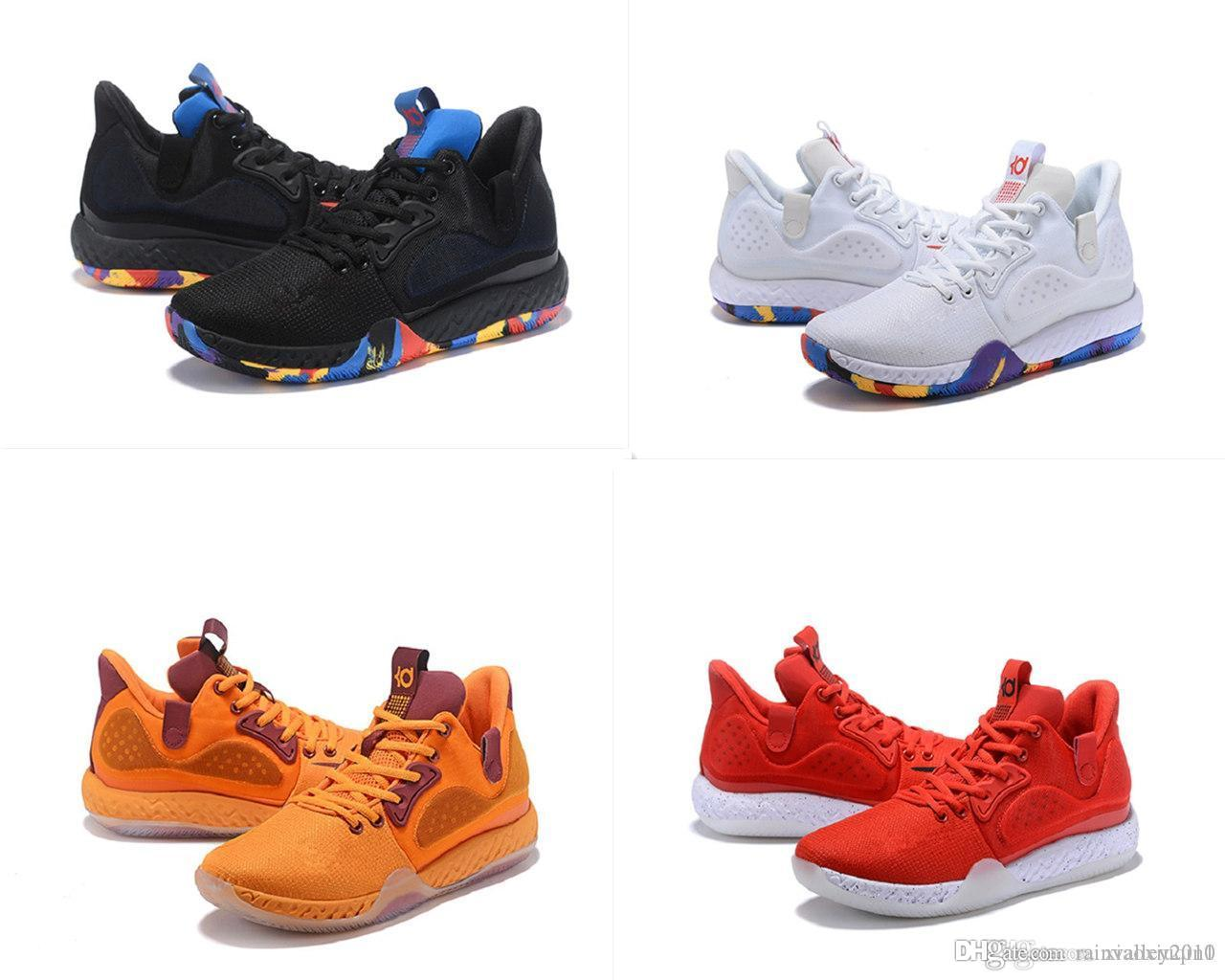 low priced ea4e4 b9c46 2019 Mens KD Trey 6 Basketball Shoes For Sale MVP BHM Colorful Black White  Gold Kevin Durant Vi Kids Boots Sneakers With Original Box From  Rainvalley2010, ...