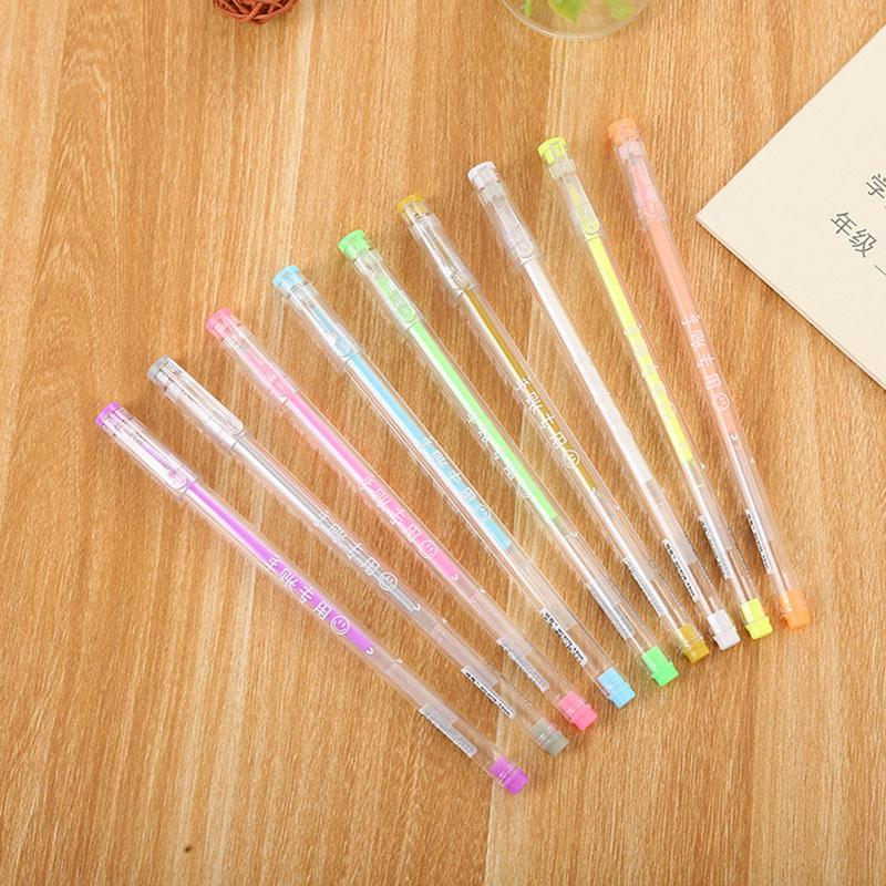 1PC Novelty Highlighter Pens Kawaii Colorful Markers Gel Pens For Kids Gift School Office Supplies Stationery