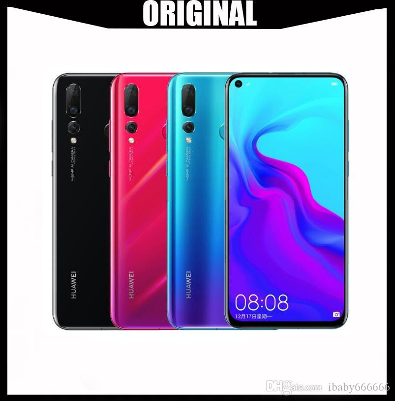 Original Huawei Nova 4 8GB 128GB 48MP Triple Camera Mobile Phone Android  9 0 Pie 6 4 inch Screen 3750mAh Battery Smartphone