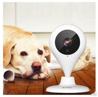 360 Mi 720P WiFi IP Camera 360 Degree Viewing Two-Way Audio Pan / Tilt  Panoramic CCTV Camera APP Control Support Android IOS