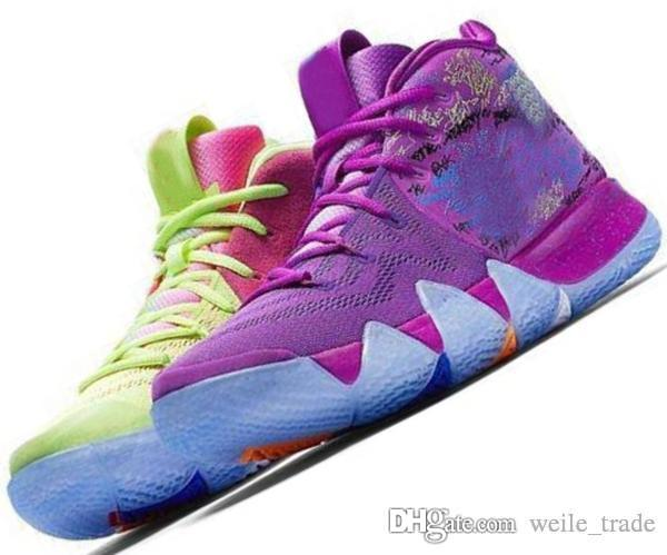 various colors a2e2e d622a Kyrie IV 4 4s Green Lucky Charms Mens 2019 All New Easter Halloween  Designer Basketball Shoes Sports sneakers baskets Man Chausseures