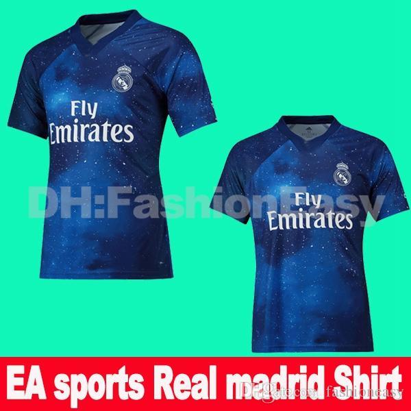 Compre TOPO Real Madrid Jerseys Campeões EA Esportes MARIANO 2019 ISCO  Camisa De Futebol SERGIO RAMOS MODRIC BALE Futebol Camisa 18 19 Camisetas  Uniformes ... d54a5344dbfc1