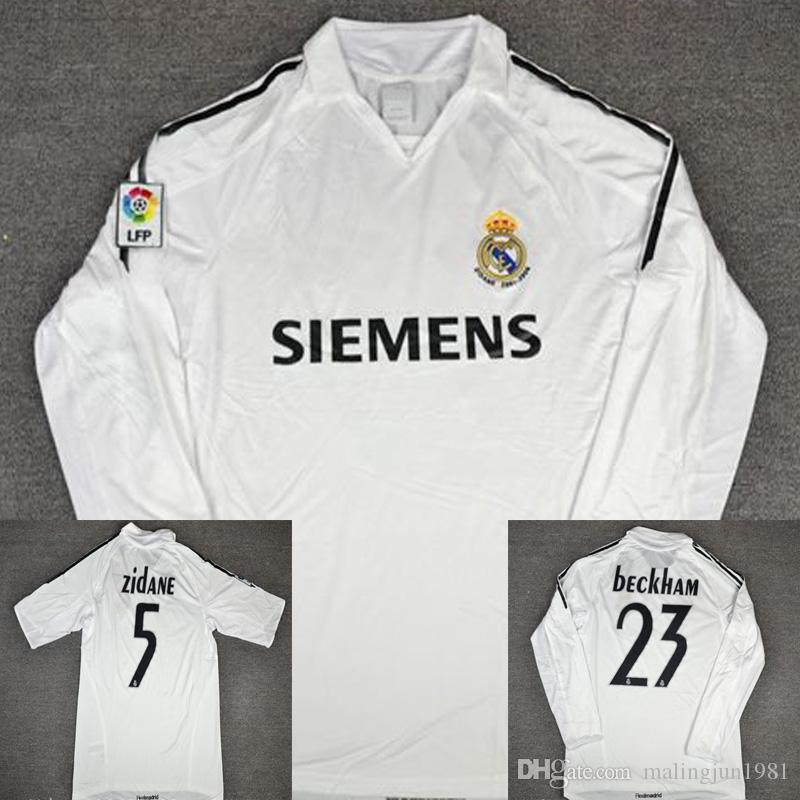 efabb0e1e 2019 05 06 Real Madrid Soccer Jerseys Beckham Raul Zidane Ronaldo R.Carlos  Vintage 2006 Real Madrid Zidane Retired Football Shirts Camisetas From ...