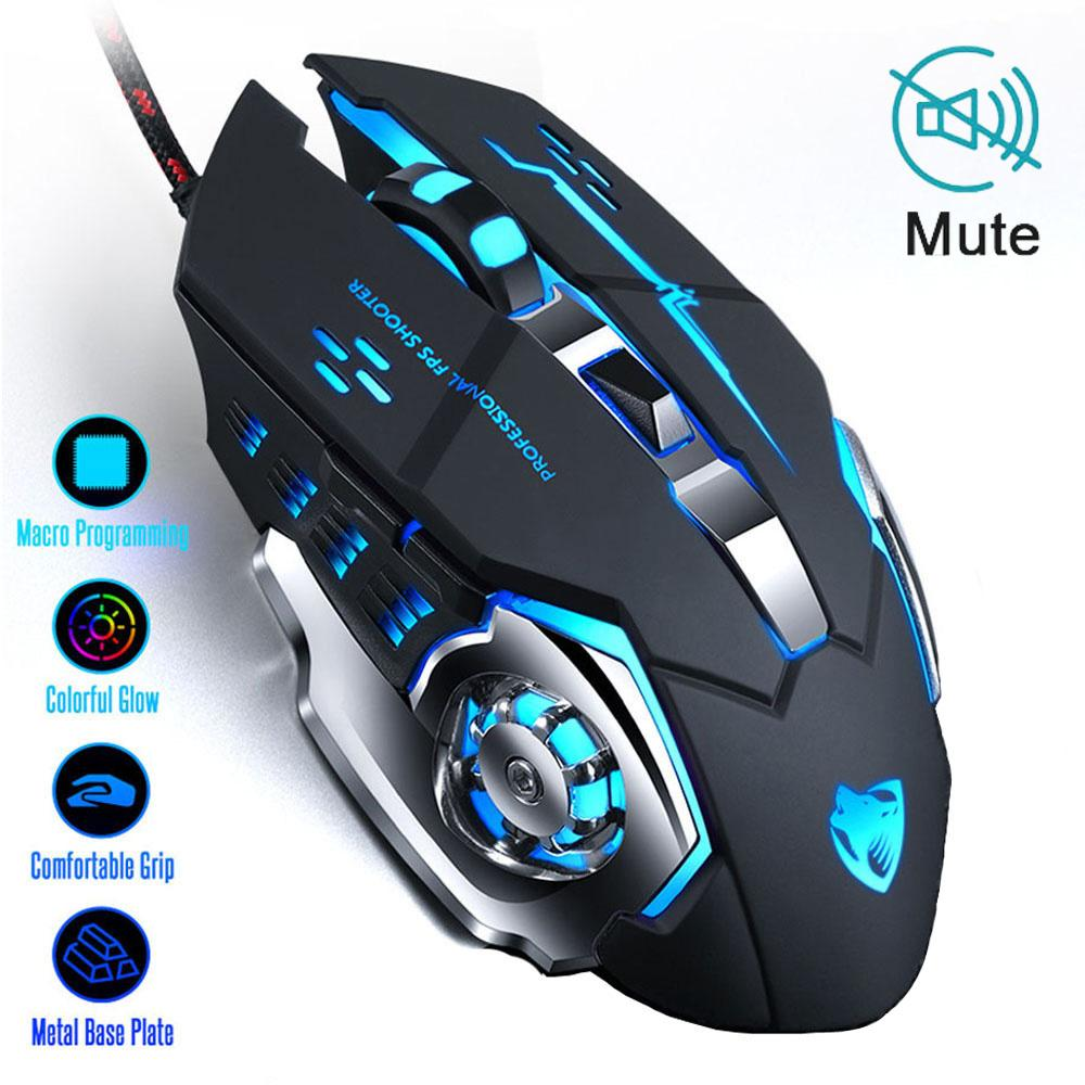 Mice Keyboards New Professional Gaming Mouse 8D 3200DPI Adjustable Wired Optical LED Computer Gamer Game Mice USB Cable Mouse for Laptop PC